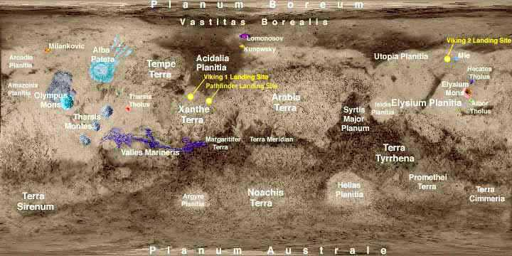 printable map of planet mars - photo #32